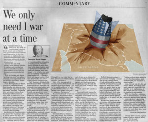 Chicago Tribune - We Only Need 1 War at a Time